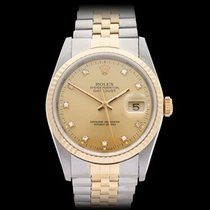 Rolex Datejust Stainless Steel & 18k Yellow Gold Gents 16233
