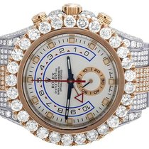 Rolex Iced Mens Yacht Master II 116681 Two Tone 44MM Oyster VS...