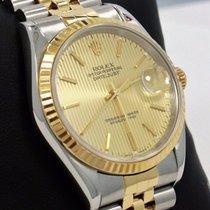 Rolex Datejust 16233 Jubilee 36mm 18k Yellow Gold /ss Stick...
