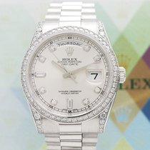 Rolex Day-Date 750 Weissgold + Rolex Diamantbesatz - LC100...