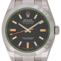 Rolex : Milgauss :  116400GV :  Stainless Steel : black dial