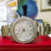 Rolex Airking Precision Stainless Steel Diamond Mop Dial Watch