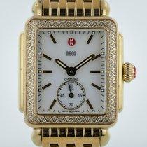 Michele Deco 16, MW06V01B0025, SS Gold Plated, Diamond Bezel