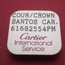 Cartier Krone Santos, siebeneckig Stahl poliert mit eingefasst...