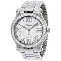 Chopard Happy Sport Medium Silver Dial Diamond Automatic...