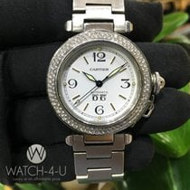 Cartier Pasha 2475 W31044M7 1.8ct Diamond Bezel Steel Women&#3...