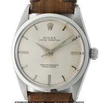 Rolex Oyster Perpetual Vintage Stainless Steel Silver Dial...