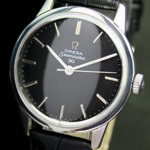 Omega Seamaster 30 Winding Black Dial Steel Mens Vintage Watch