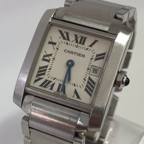 Cartier Tank - Francaise - Steel - Medium Size - Box & Papers