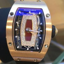 Richard Mille Rose Gold Jasper Diamond Dial Red