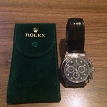 Rolex Daytona 18KT White Gold 40mm case and a black diamond dial