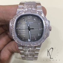 Patek Philippe 7014/1G Ladies Nautilus White Gold & Diamond