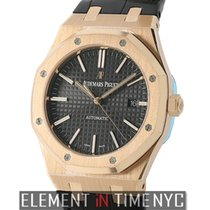 Audemars Piguet Royal Oak 41mm 18k Rose Gold Black Dial Automatic