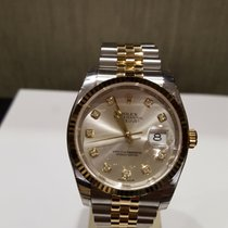 Rolex Datejust 36mm  Gold And Steel White  116233