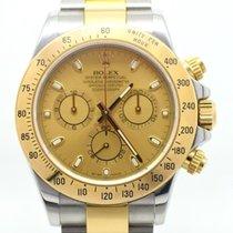 Rolex Daytona 116523, Gold / Steel, Box & Papers