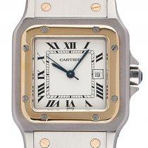 Cartier Santos GM großes Modell Stahl Gelbgold Automatik...