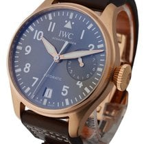 IWC IW5009-17 Big Pilot Rose Gold with Grey Dial - On Brown...