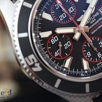 Breitling SuperOcean Chronograph II 44 Black Indexes Steel on...