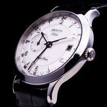 Zenith Elite Dual Time GMT Automatic Date hochfeine Herrenuhr