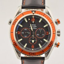 Omega Seamaster Planet Ocean Co-axial Chronograph Orange Watch...