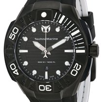 Technomarine Black Reef Black PVD Coated Steel Mens Strap...