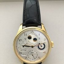 IWC Portuguese Perpetual Yellow Solid Gold Calendar Moonphase...