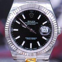 롤렉스 (Rolex) Oyster Perpetual Datejust 41 Ss Black Dial 126334...