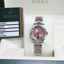 Rolex Ladies Oyster Perpetual 176200 Pink Dial Stainless Steel...