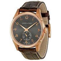 Hamilton Jazzmaster Grey Dial Brown Leather Strap Men's Watch