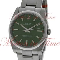Rolex Oyster Perpetual No-Date 34mm, Olive Green Dial, Domed...