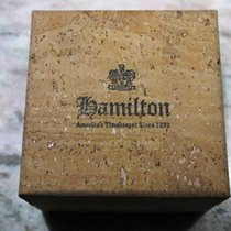Hamilton vintage watch box cork rare