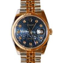 Rolex Datejust 36 116233-BLJDFJ Blue Jubilee Dial Diamond...