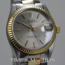 Rolex Oyster Perpetual Datejust 6827 Or/acier Midsize - Gris...