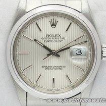 Rolex Oyster DateJust 16200 quadrante argento zigrinato