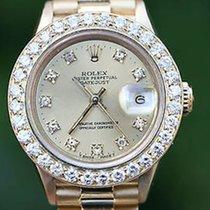 Rolex Ladies President Yellow Gold 26mm Factory Diamond Dial...