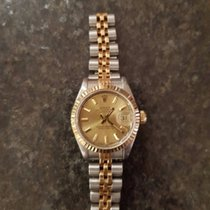 Rolex Datejust 69173 Steel/Gold 1986 Gold Dial 26mm