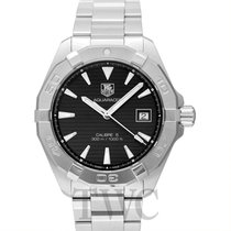 TAG Heuer Aquaracer Calibre 5 Automatic Black Steel 40.5mm -...