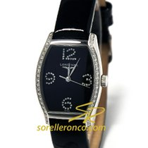 Longines Evidenza Ladies Quartz black Dial ultra thin