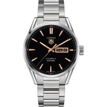 TAG Heuer Carrera Calibre 5 Day-Date 41 mm  Black Dial, Steel...