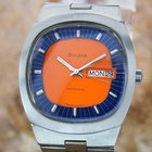 Bulova 1970s Swiss Automatic Ref N3 Stainless Steel Men's...