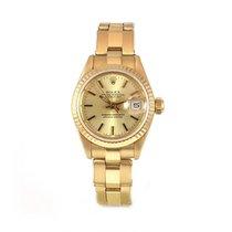 Rolex Lady DATEJUST 18k Y/G Champagne Dial