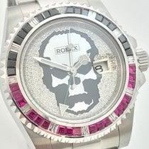 Rolex GMT MASTER II Skull Totenkopf Brillanten Baguette Diamonds