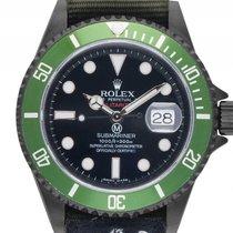 Rolex Submariner Date Jubiläum Militarized Black Edition Stahl...