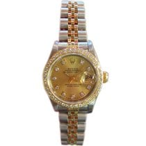 Rolex Oyster Perpetual Datejust Two-tone 18k Yellow Gold &...