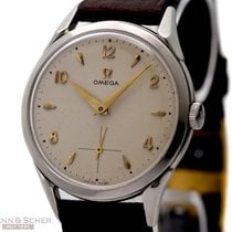 Omega Vintage Gentlemans Watch Ref-2605-5 Stainless Steel Bj-1951