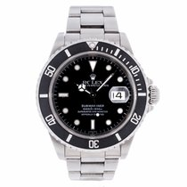 Rolex Submariner Date Black Dial with Holes 16610 (Pre-Owned)