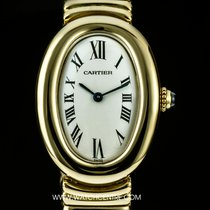까르띠에 (Cartier) 18k Y/G Silver Dial Baignoire Ladies Wristwatch...