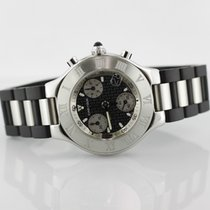 Cartier Must 21 Chronograph On Rubber Strap