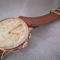 Chronographe Suisse Cie Olympic vintage BIG size  18ct golden...