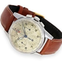 Universal Genève Wristwatch: early astronomical steel Chronogr...